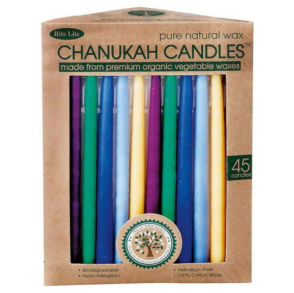 Chanukah Candles - Organic Vegetable Wax