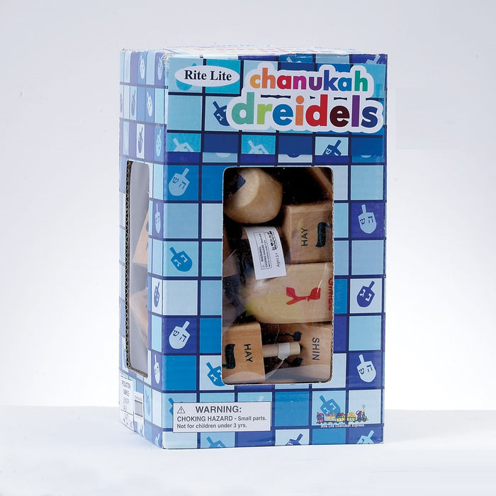 "Deluxe Driedel Natural 3"" - 25 Pieces"