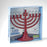 Burgundy LED Menorah with Clear Bulbs