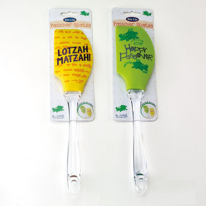 Passover Spatula with Clear Plastic Handle