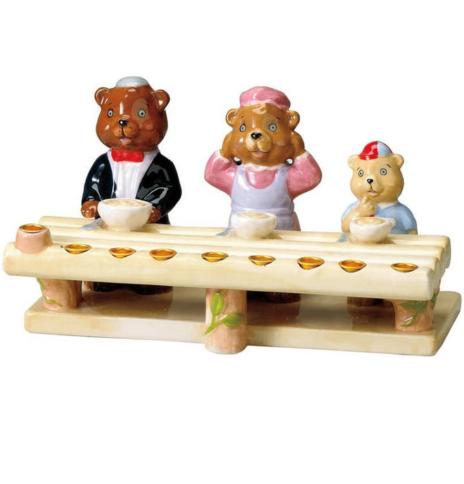 3 Bears Hand Painted Menorah