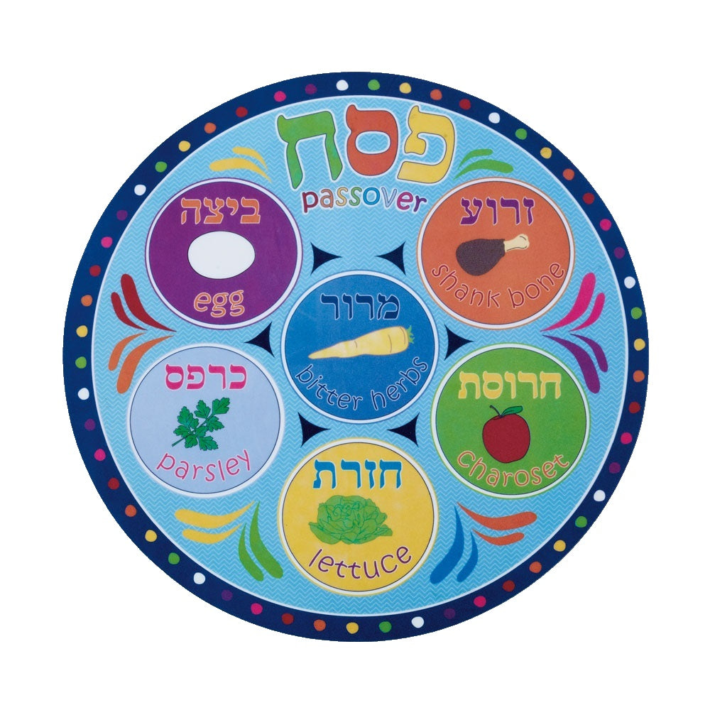 Round Vinyl Passover Placemat