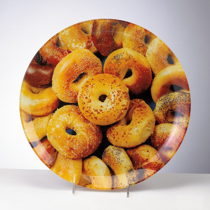"12"" Round Glass Bagel Plate"