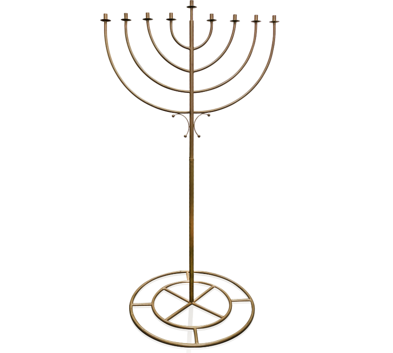 6 Foot Indoor Menorah Display