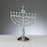 Traditional Menorah - Polished Silvertone