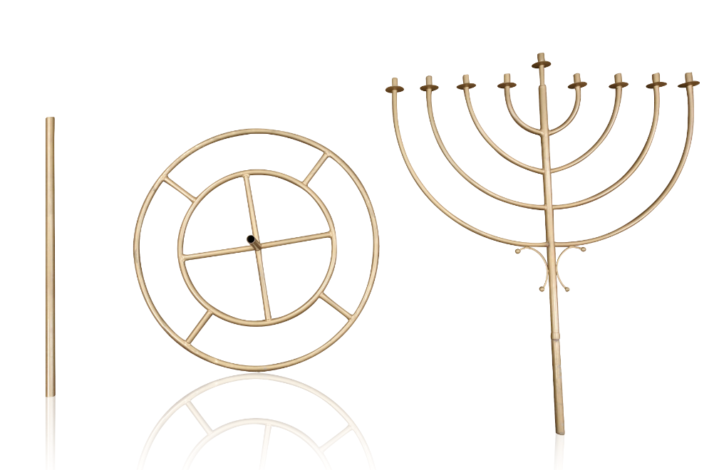 6 Foot Indoor Menorah Display 3 Pieces