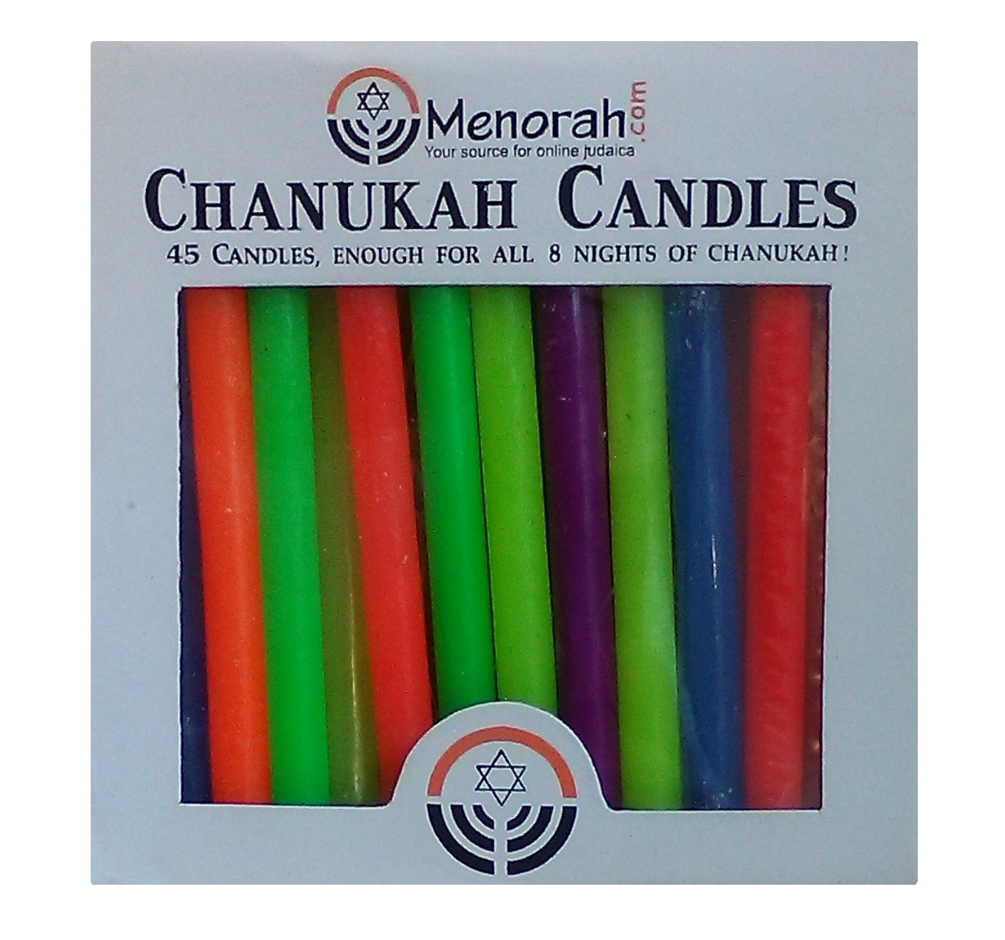 Colored Hanukkah Candles