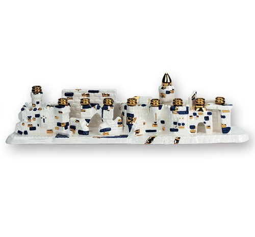 Ceramic Jerusalem Menorah