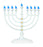 Traditional White LED Battery Menorah