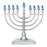 Traditional Silver LED Battery Menorah