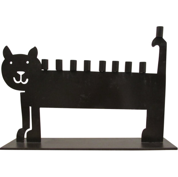 Metal Cat Menorah