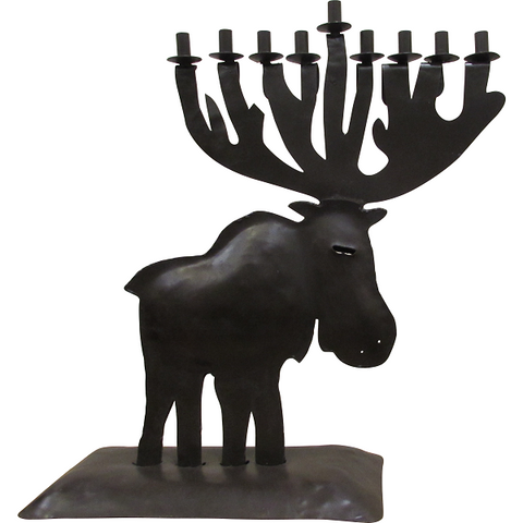 "Moose Menorah, 18"" Tall"