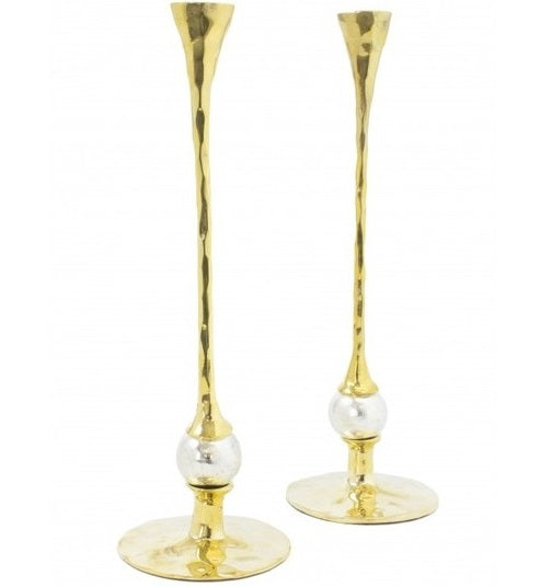 Golden Light Candle Holder Set