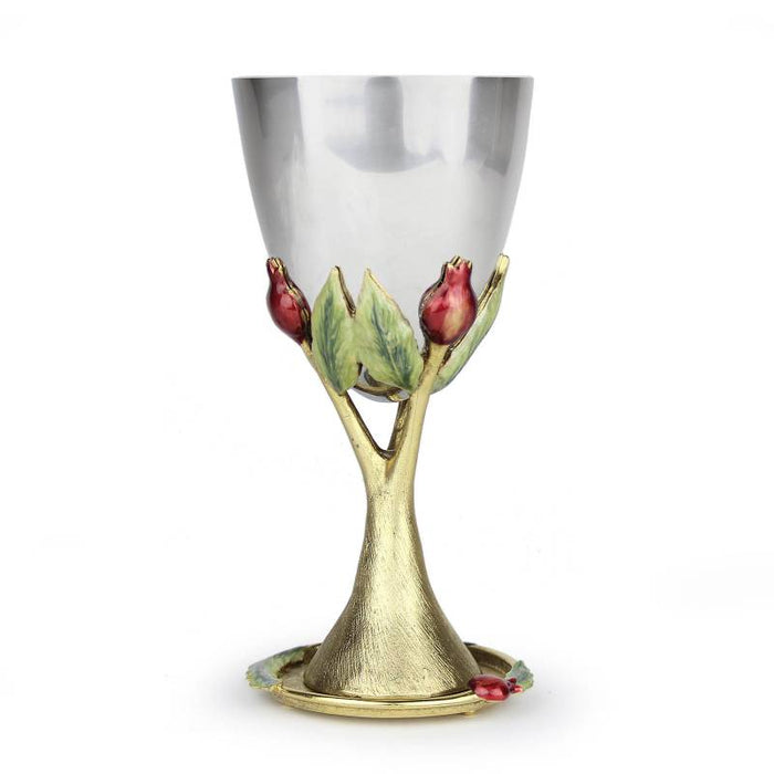 Gold Pomegranate Kiddush Cup