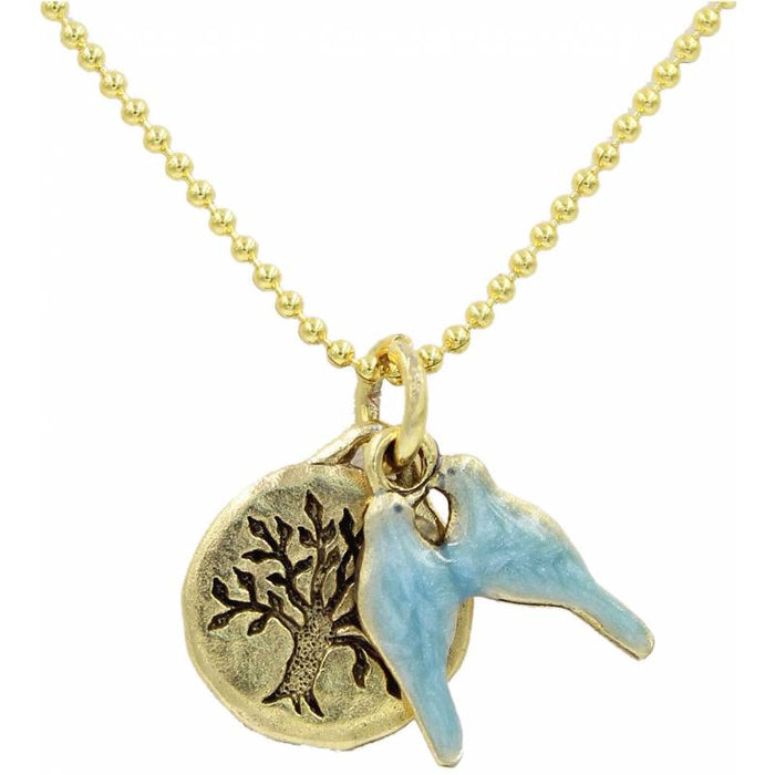 Tree of Life & Dove Necklace