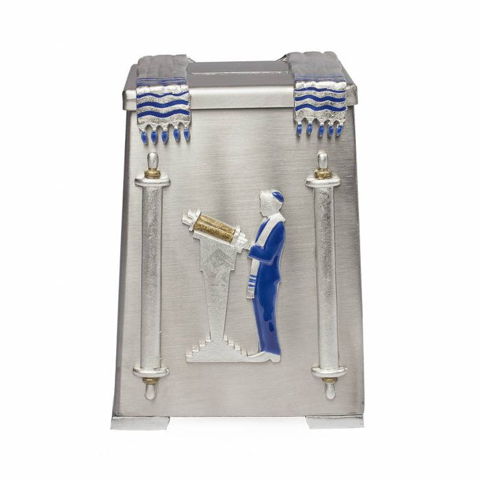 Painted Bar Mitzvah Tzedakah Box