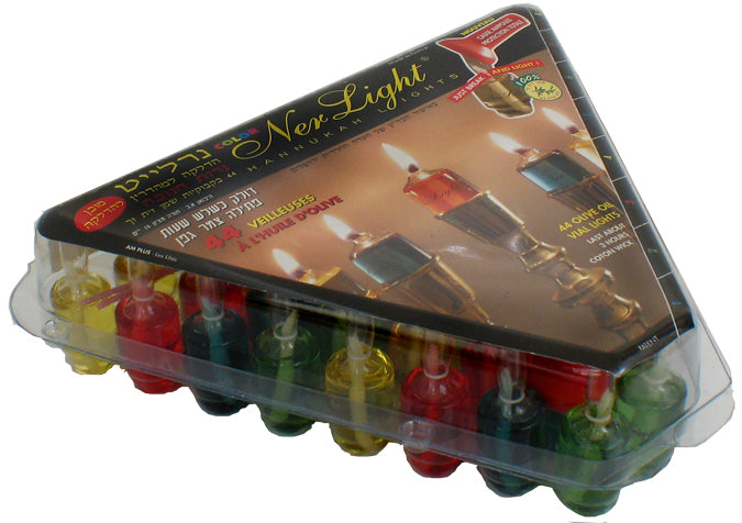 Oil for Menorah - Box of 44 - Colorful