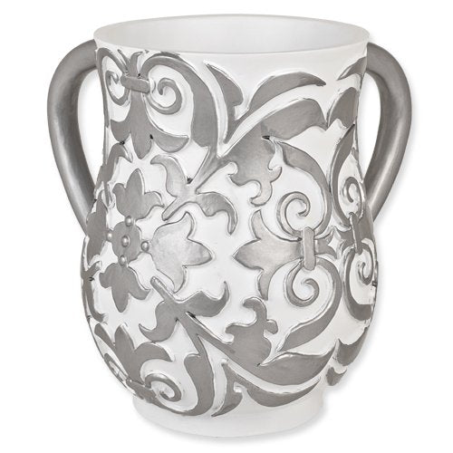 White and Silver Wash Cup