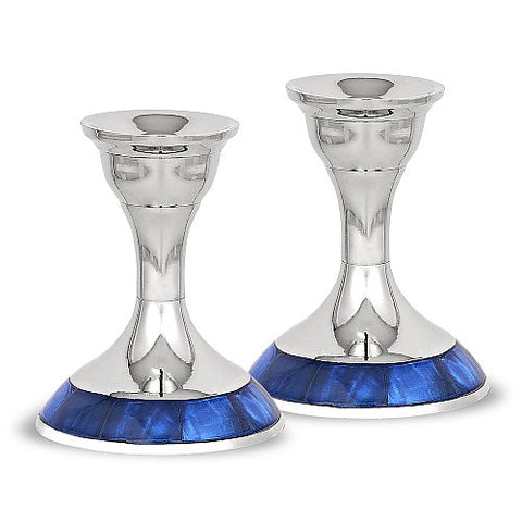 Nickel Plated Candlesticks