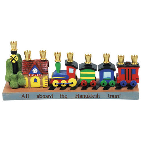 Hanukkah Railroad Menorah
