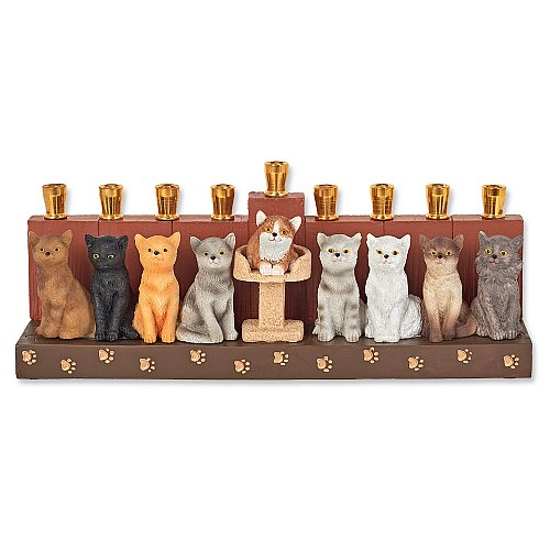 Cats Menorah