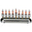 Electric Log Menorah with Flickering Bulbs