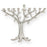 Modern Chrome Plated Tree Of Life Menorah