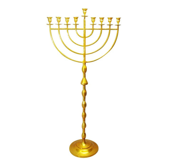 63'' Indoor Display Menorah - Brass