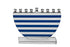 Blue Stripes Crystal Menorah