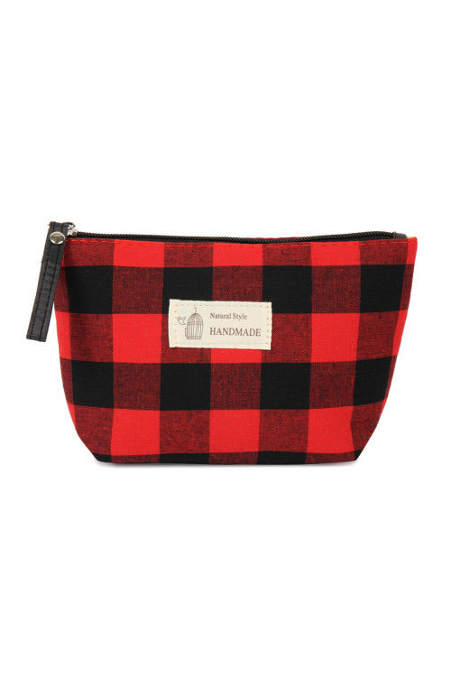 Buffalo Plaid Medium Cosmetic Bag