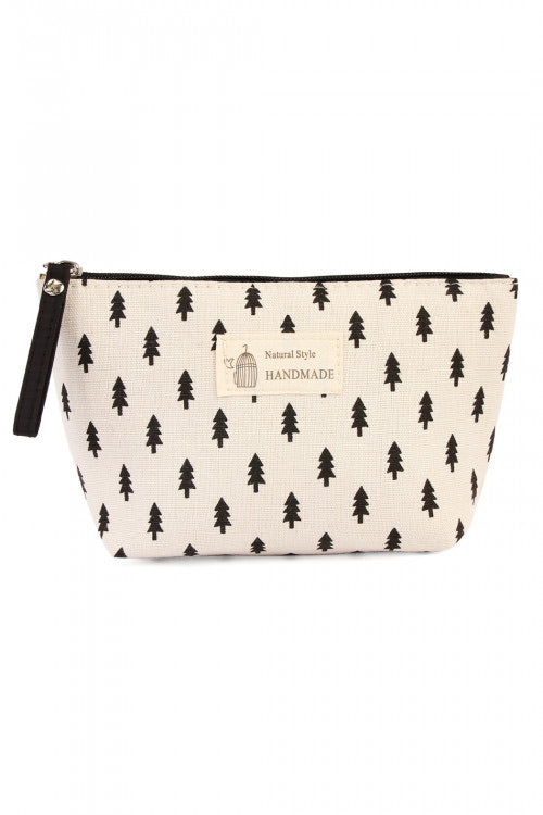 Pine Tree Cosmetic Bag (ALL SALES FINAL)