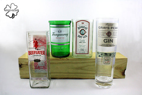 Gin Bottle Tall Glass - Mixed Collection (Sold Individually)
