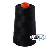 Aurifil Thread - Black (2692) - 5900 m - 50/2 wt - Mako Cotton