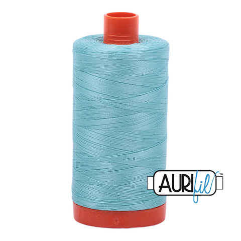 Aurifil Thread - Light Turquoise (5006) - 1300 m - 50/2 wt - Mako Cotton