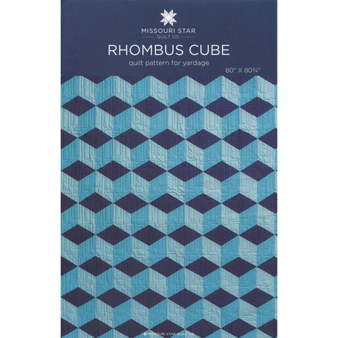Rhombus Cube Quilt Pattern by Missouri Star Quilt Co.
