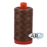 Aurifil Thread - Dark Sandstone (1318) - 1300 m - 50/2 wt - Mako Cotton