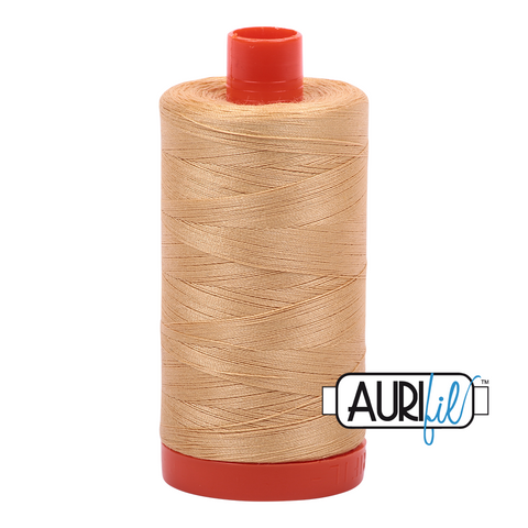 Aurifil Thread - Ocher Yellow (5001) - 1300 m - 50/2 wt - Mako Cotton