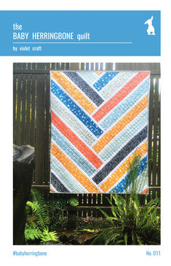 Baby Herringbone Quilt Pattern by Violet Craft