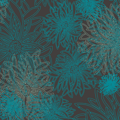 PRE-ORDER Floral Elements - Deep Ocean by Art Gallery Fabrics - 0.25 metre -  Pre Order Closes January 12 2019 - Ships/Pick Up January 15 2019