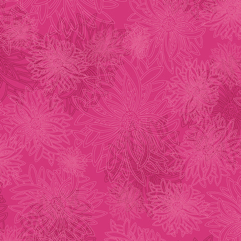 PRE-ORDER Floral Elements - Fuchsia by Art Gallery Fabrics - 0.25 metre -  Pre Order Closes January 12 2019 - Ships/Pick Up January 15 2019