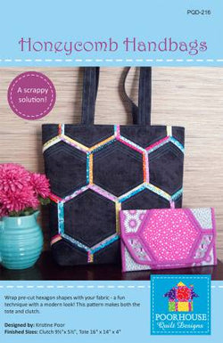 Honeycomb Handbags by Poorhouse Quilt Designs