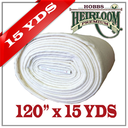 "PRE ORDER - Hobbs Heirloom 80/20 Batting - 120"" x 13.7 m (15yds)"