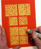 Surface Design Using Shiva Paint Sticks with Val Wilson - Tuesday, February 19