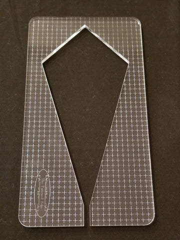 "PRE ORDER - 8.5"" Elongated Diamond by Sue Patten - Longarm Machine Quilting Ruler 1/4"" - Closes April 30"