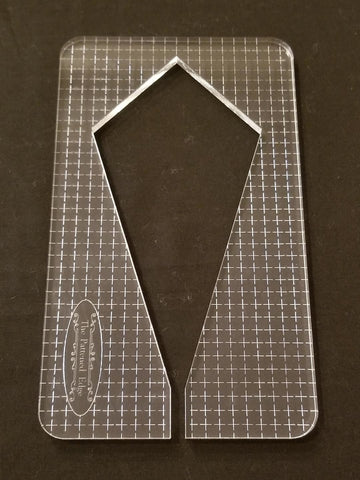 "PRE ORDER - 6"" Elongated Diamond by Sue Patten - Longarm Machine Quilting Ruler 1/4"" - Closes April 30"