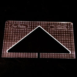 "PRE ORDER - Wide Base Triangle by Sue Patten - Domestic Machine Quilting Ruler 1/8"" - Closes April 30"