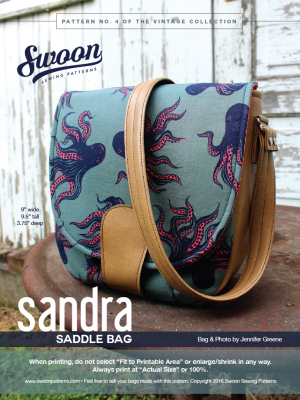 Sandra Saddle Bag by Swoon Sewing Patterns – Keystone Quilts