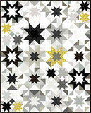 PRE ORDER Tattooed North by Libs Elliott - Mini Lightening Bolts in Charcoal - 0.25 metre -  Pre Order Closes February 15 - Ships/Pick Up Mid-Late February
