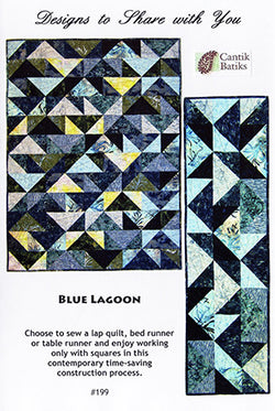 Blue Lagoon Quilt Pattern by Designs to Share with You