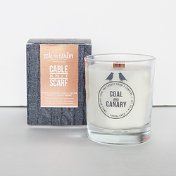 Cable Knit Scarf Candle by Coal and Canary